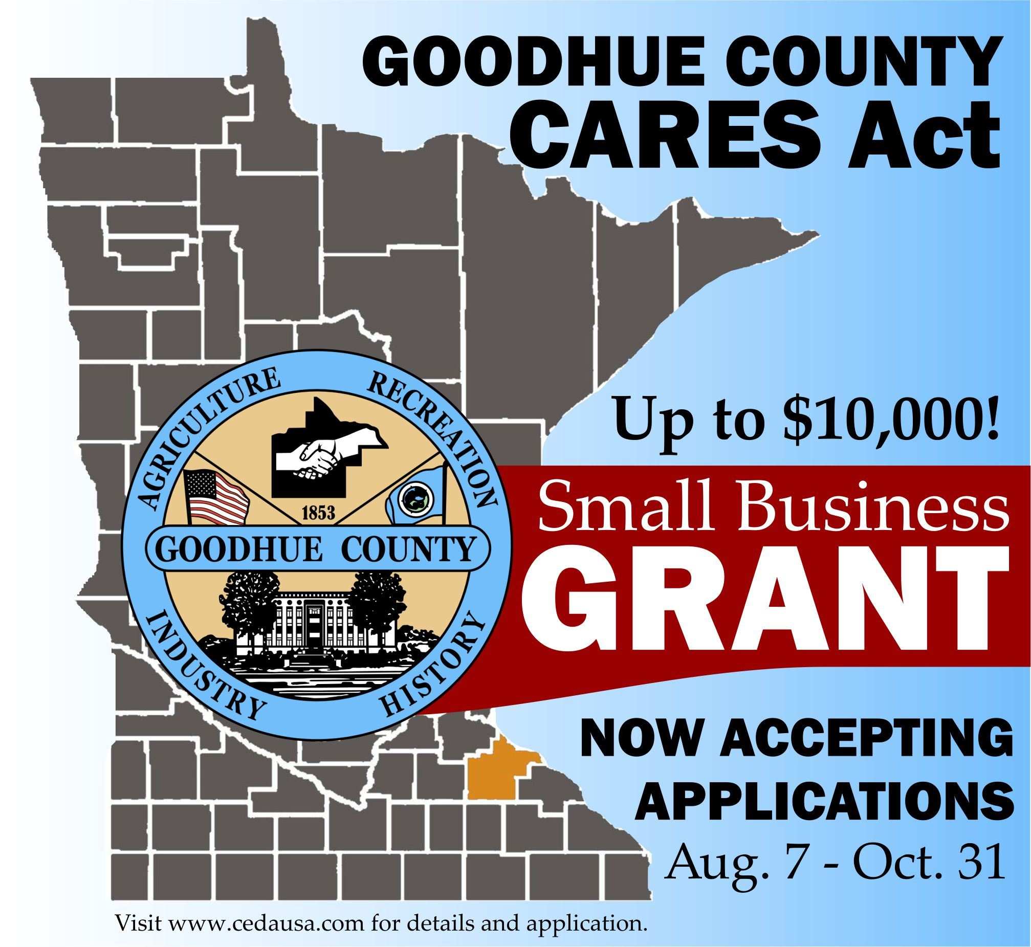 Goodhue County CARES Grant marketing tool