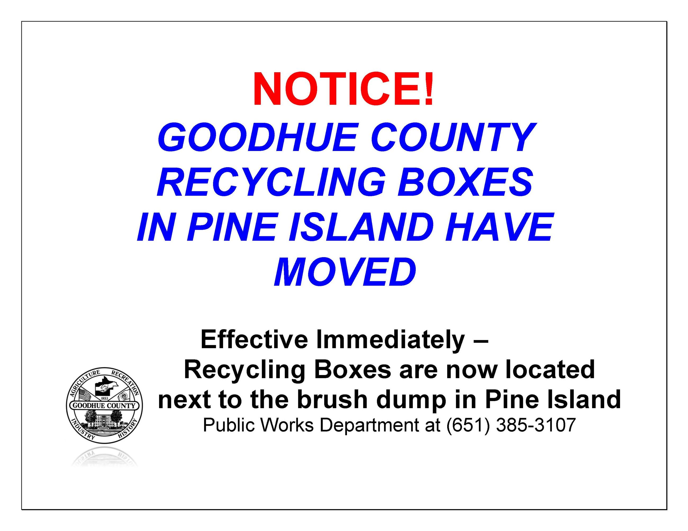 Pine Island Boxes Moved 2021