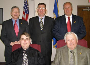 Seated from left - Dan Rechtzigel, Richard Samuelson. Standing from left - Ted Seifert, Ron Allen, J