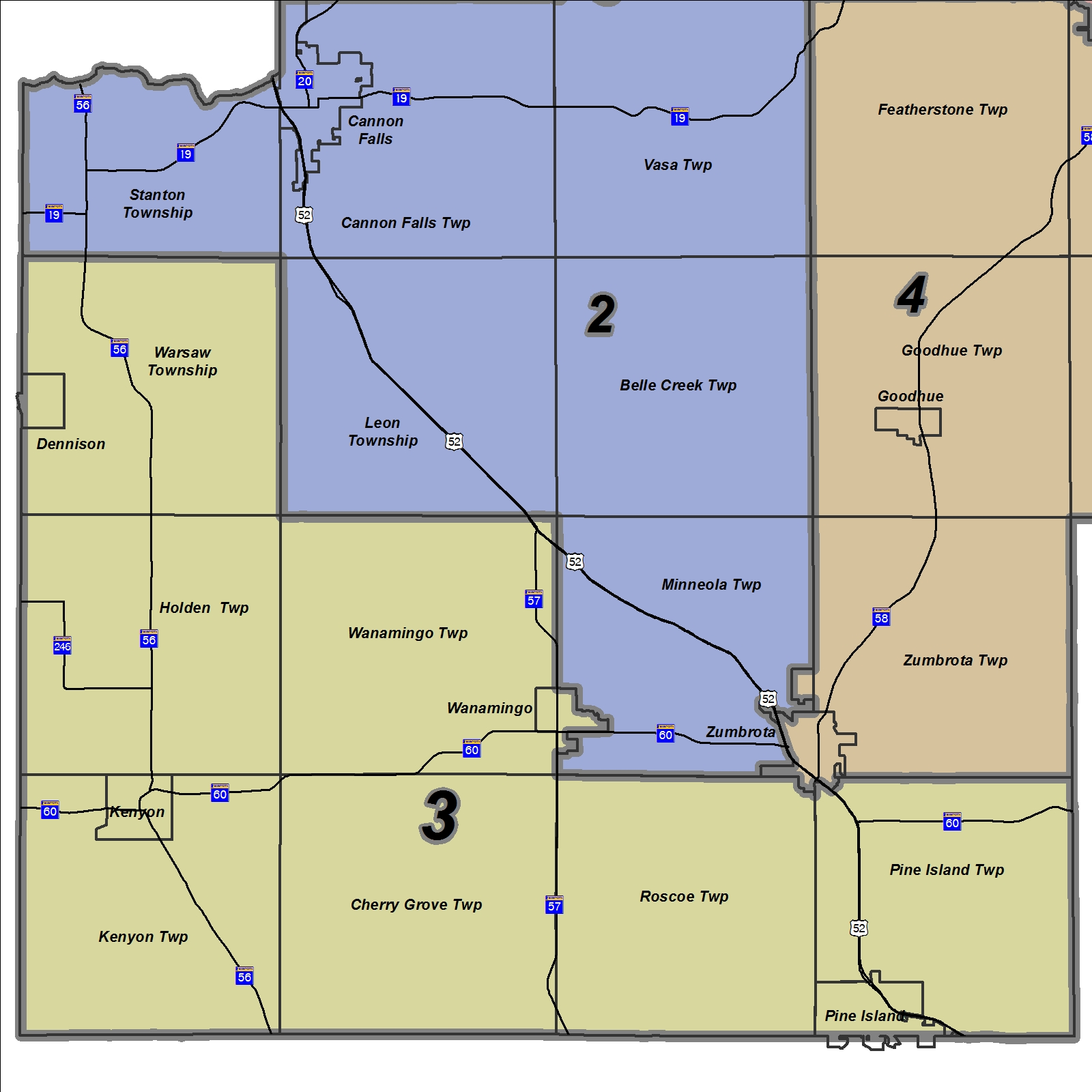 Map of District 3