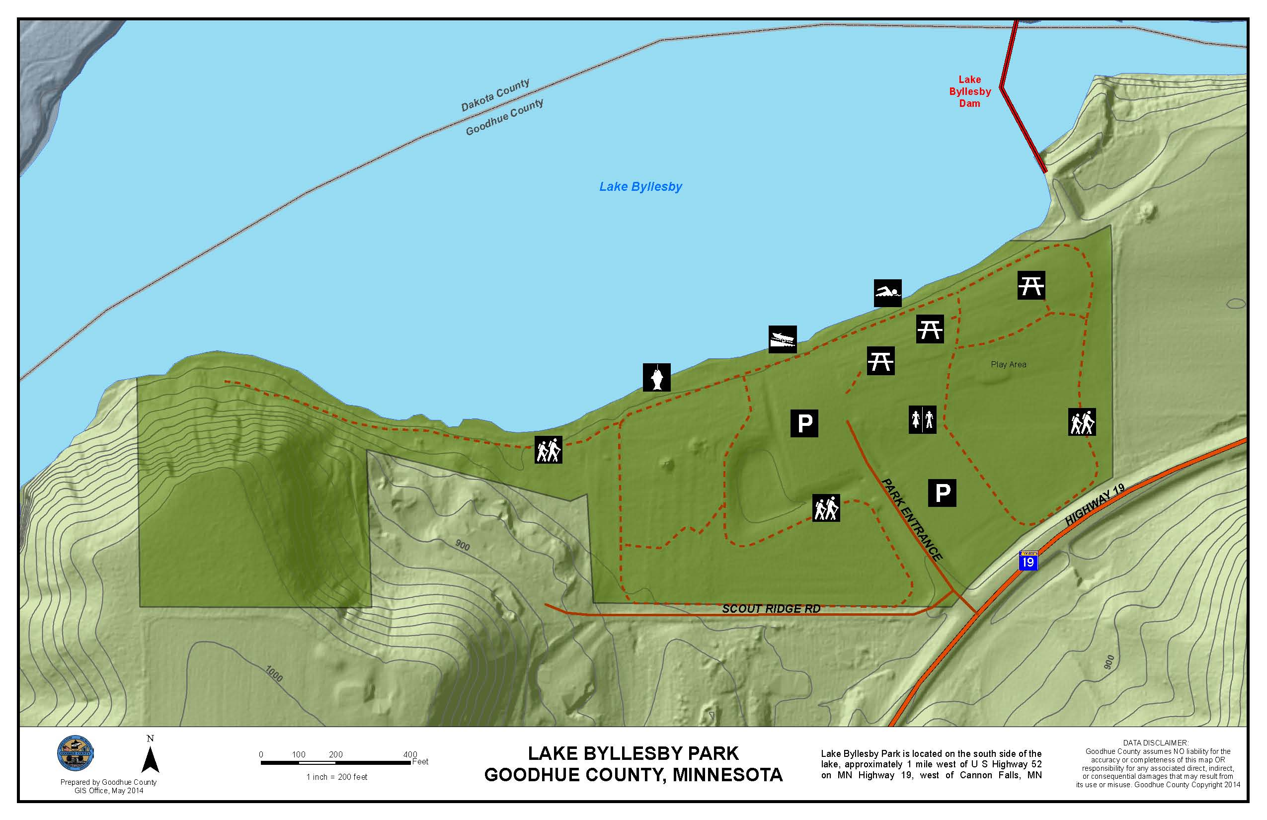 Lake Byllesby Park Map